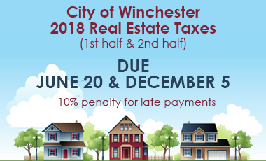 Real Estate Taxes Due June 20 and December 5