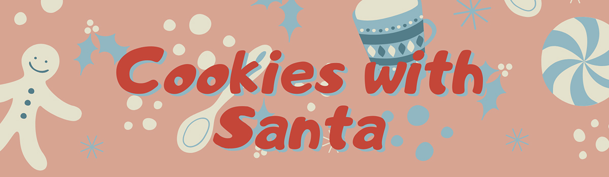 Cookies with Santa graphic