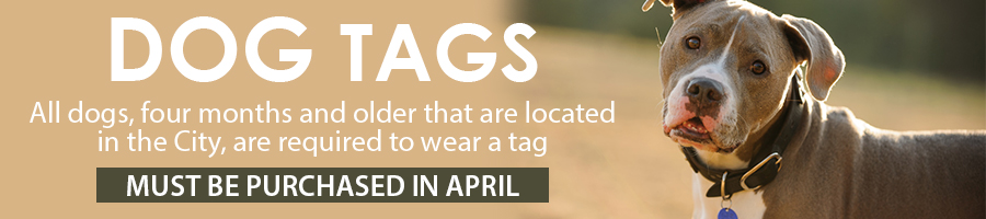 Dog Tags must be purchased in April