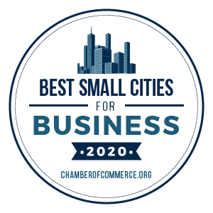 Best Small Cities for Business badge