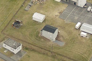 Current fire training facility aerial view