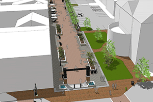 Boscawen Street improvement option rendering