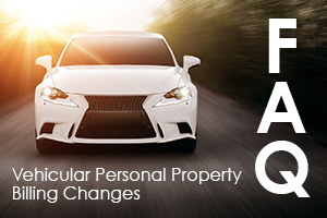 Vehicular personal property bill changes FAQs