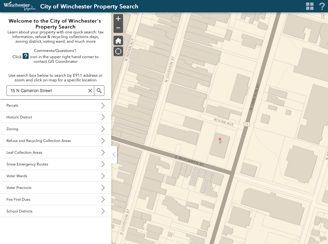 Property Search Portal example