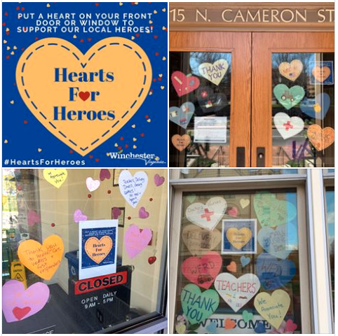 Hearts for Heroes examples