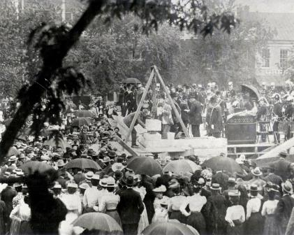City Hall Cornerstone laying ceremony in 1900