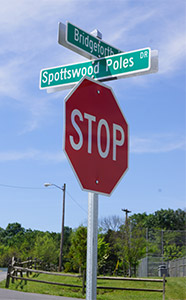 Spottswood Poles Street Sign