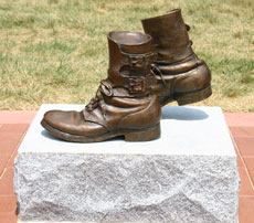 Bronze military boots