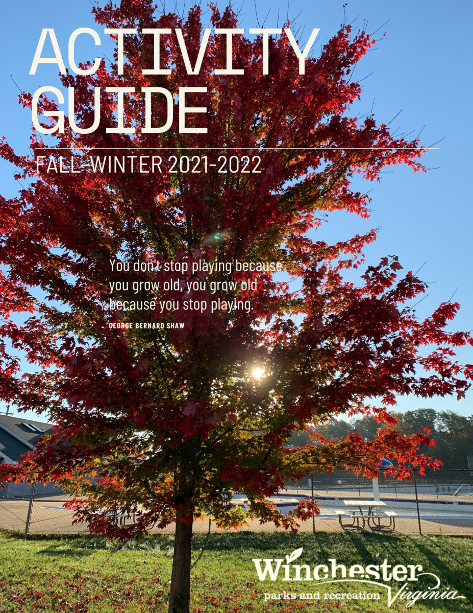 Fall foliage tree on the cover of the parks activity guide