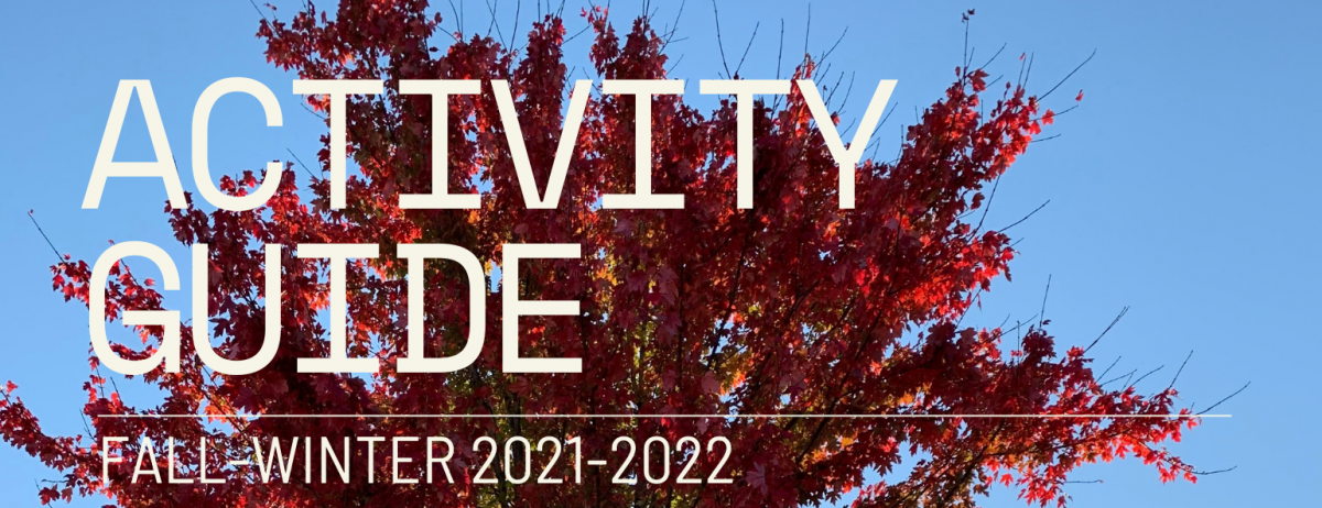 Fall foliage on cover of activity guide