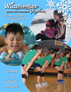 Winter Spring Parks Activities Guide cover