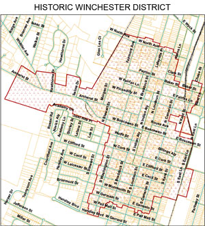 Historic Winchester District Map