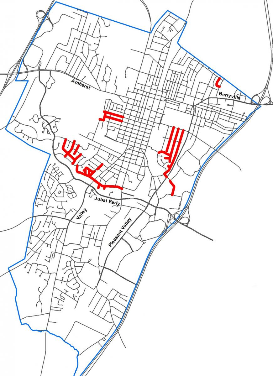 FY19 Street Repaving Map