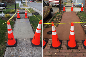 Sidewalk repair examples