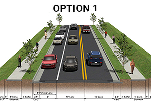 Wentworth sidewalk project option 1