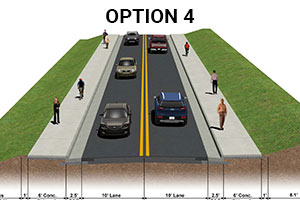 Wentworth Drive Improvement Project Option 4