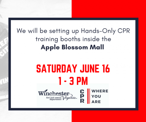 Hands-only CPR Tour at the Apple Blossom Mall