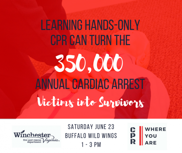 Hands-only CPR Tour at Buffalo Wild Wings