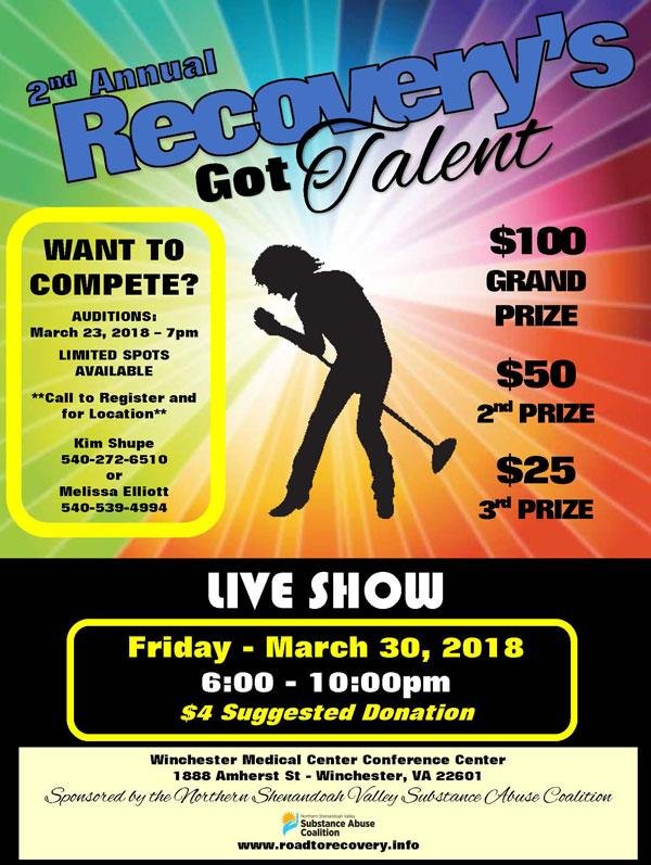 Recovery's Got Talent flyer